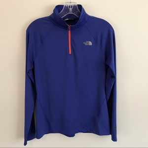 The North face 1/2 Zip blue